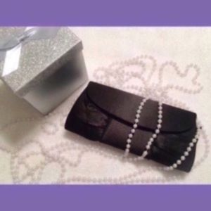 Black Satin Evening Clutch